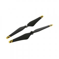 DJI Набор пропеллеров для Phantom 3 9450 черные, желтые полосы (пласт.хаб) Carbon Fiber